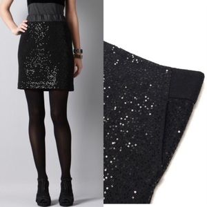 Loft Wool blend sequins skirt